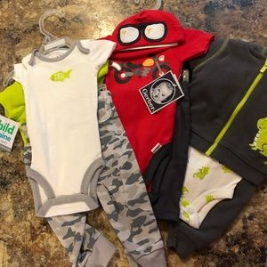 Other - NWT 3-piece newborn bundle outfits